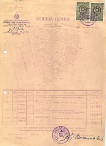 Plan zgrada i na raskrsnici ulica Makedonske i Dečanske (Moše Pijade), 1959.