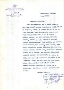 Potvrda carinarnici Beograd, 12. novembar 1990.