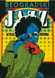 Reklama za 11. Beogradski džez festival, 1981.