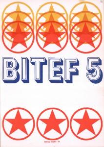 Plakat petog BITEF-a, 1971. godine