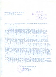 Molba upućena studentskom centru za standard u Beogradu, 2. decembar 1985.